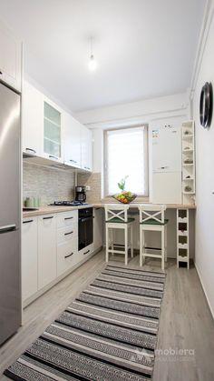 Vintage kitchen furniture - furniture to order FURNITURE Iasi Kitchen Furniture, Kitchen Interior, Kitchen Decor, Prep Kitchen, Apartment Kitchen, Apartment Design, Little Kitchen, Cuisines Design, Küchen Design