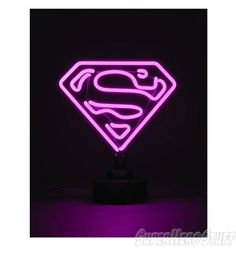 Supergirl Mini Neon Sign US Version - Westfield Comics - premier . Pink Wallpaper, Wallpaper Backgrounds, Neon Light Signs, Neon Signs, Adjustable Base, Neon Lighting, Supergirl, Clean House, Cool Photos