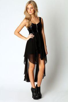 Claire Wet Look Mixi Dress