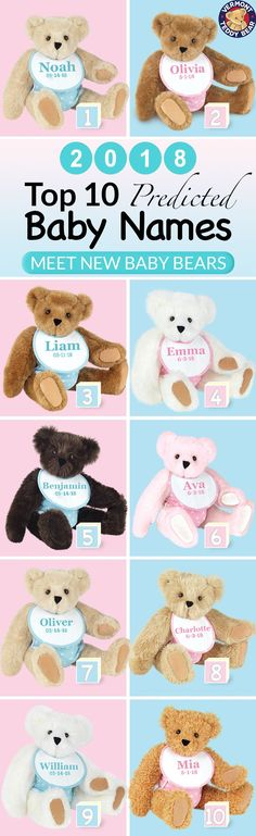 Welcome a new Cub with the most huggable, lovable gift that is guaranteed to last a lifetime 🐻 Ideal for Baby Showers & Homecoming Gifts, only our best-selling Vermont Teddy Bears can celebrate precious new life in such an adorable way! Vermont Teddy Bears, We Bear, Unique Baby Gifts, Teddybear, Baby Names, Baby Showers, Baby Love, Homecoming, New Baby Products