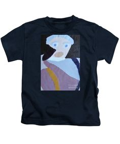 Patrick Francis Designer Kids Navy T-Shirt featuring the painting Portrait Of A Lady by Patrick Francis
