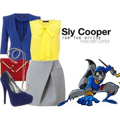 """Sly Cooper (For the Office)"" by heidifaith on Polyvore"