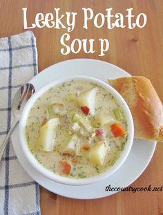The Country Cook: Crock Pot Leek & Potato Soup