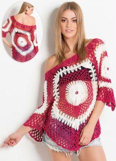 Blusa crochê de grampo da marca Colcci coleção primavera -verão 2015 Faço sob encomenda  artesdagis@hotmail.com