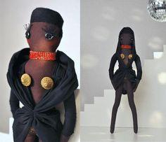 Grace Jones doll by Oddbuttons http://knuffelsalacarteblog.blogspot.nl/