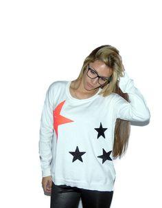 Sweater blanco estrellas de Oasis