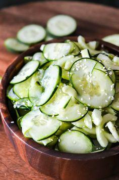 Japanese Sushi Restaurant Cucumber Salad Copycat