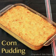 Corn Pudding - an easy family favorite side dish recipe for Thanksgiving and Christmas, and even Easter that's been loved for years. You have to add this to your holiday menu! It's also gluten free. Easy Corn Pudding, Corn Pudding Recipes, Casserole Recipes, Corn Casserole, Creamy Corn Pudding Recipe, Casserole Dishes, Corn Recipes, Apple Recipes, Yummy Recipes