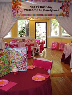 "PINK Candyland Party photos!  Photo 1 of 15: Candy Land / Birthday ""One Sweet Party"" 