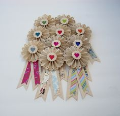 Lovely little handmade award ribbons