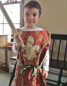 Medieval Knight Tunic For Children Red by FolkOfTheWoodCrafts, $38.00