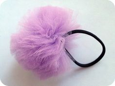 zakka life: Craft Project: Tulle Ponytail Holder