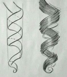 Drawing curly hair