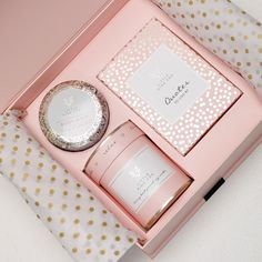 Little Pink Box - Bliss - Little Pink Fox Fox Quotes, Magnetic Gift Box, Pink Fox, Quotes To Live By, Polka Dots, Fragrance, Candles, Cosmetics, Luxury