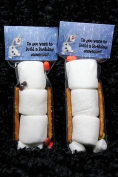 Olaf from frozen party favor ~ birthday ~ Marshmallows ~ pretzels ~ chocolate chips. - Olaf from frozen party favor birthday Marshmallows Frozen Party Favors, Frozen Themed Birthday Party, Disney Frozen Birthday, 4th Birthday Parties, Birthday Party Favors, 2nd Birthday, Olaf Party, Frozen Party Food, Frozen Themed Food