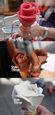 Amorino icecream. Eatable flower! Hermoso y delicioso