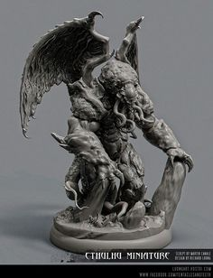 Cthulhu sculpt from Richard Luong concept