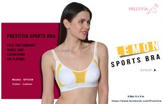 Feel the Comfort While You are Excercising or Playing with Sport Bra. Shop Online - http://prestitia.co.in