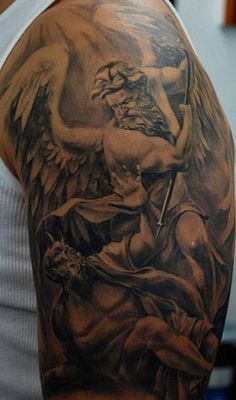 1000 images about tattoos on pinterest the archangels st michael tattoo and st michael. Black Bedroom Furniture Sets. Home Design Ideas