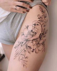 Bird Tattoos for Women Tattoo Femeninos, Up Tattoos, Mini Tattoos, Body Art Tattoos, Tribal Tattoos, Small Tattoos, Sleeve Tattoos, Tattoo Bird, Tattos