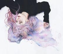 Inspirant de l'image art, couleurs, dessin, fille, cheveux, pastel, rose, violet #3662770 par saaabrina - Résolution 500x348px - Trouver l'image à votre goût