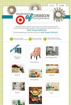 HGTV has a summer of design sweepstakes with Target!