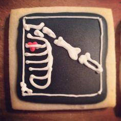 X-ray Valentine's Day cookie