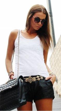cute shorts and belt