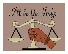 Equal Rights Illustration Judge by SweatStains on Etsy Sweat Stains, Skyline Painting, Equal Rights, Mixed Media Painting, New Words, Stand By Me, Fine Art Paper, Equality, Fine Art Prints