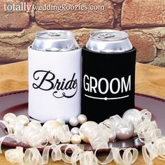 You will receive a FREE bride & groom can cooler with every online wedding koozie order! #koozie