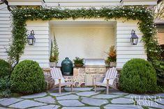 Sense of Place - Atlanta Homes and Lifestyles Outdoor Spaces, Outdoor Living, Outdoor Decor, Outdoor Kitchens, Wood Facade, Side Porch, Atlanta Homes, Sense Of Place, House And Home Magazine