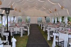 Montaje y decoracion de carpa y mesas para matrimonio