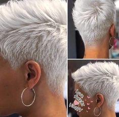 Funky Short Hair, Super Short Hair, Short Thin Hair, Short Grey Hair, Haircut For Thick Hair, Hairstyle Short, Super Short Pixie Cuts, Really Short Hair, Thin Hair Cuts