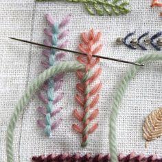 fly stitch variation