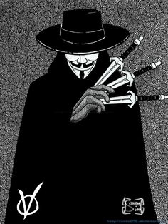 V V for Vendetta Made this fanart after I saw the trailer of the upcoming movie V for Vendetta. V for Vendetta V For Vendetta Comic, V For Vendetta Tattoo, V Pour Vendetta, Dc Comics, Comics Story, V For Vendetta Wallpapers, Hacker Wallpaper, Cast Art, Polygon Art