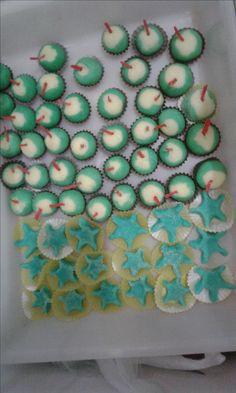 DOCINHOS festa hawaii beach  coco verde e estrela do mar azul , beach party coconut star sea