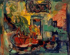Hans Hofmann Still Life Interior-1941.Oil on panel