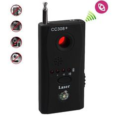 Anti-Spy Signal Bug RF Detector Pro Hidden Camera Lens GSM Device Finder CC308+