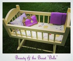 Disney Beauty and the Beast dolls cot by Revamped by Samantha