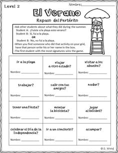 Actividades para septiembre: Great activities for the Spanish language classroom.