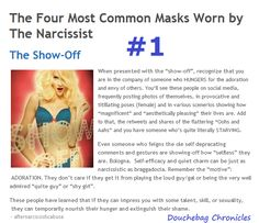 The Four Most Common Masks of the Narcissist: #1 is the Show-Off