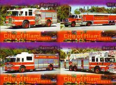 Miami Fire Department   CFM571 - City of Miami Fire Dept Collector Cards, series 1