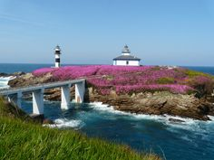 Faros de Isla Panxa, Ribadeo, Galicia