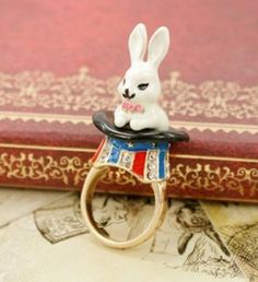 Rabbit in a Hat ring | JuDeLovesYou