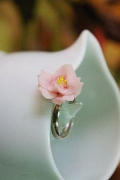 Miniature Polymer Clay Jewelry, Sophisticate Handcrafted Rose Ring, select one…