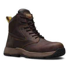 Martens Unisex Corvid Non-Metallic SD Safety Toe 7 Eye Boot Gaucho Connection Size 5 M Dr. Martens, New Shoes, Men's Shoes, Table Tennis Shoes, Mens Work Shoes, Mens Football Boots, Fashion Boots, Mens Fashion, Slip And Fall