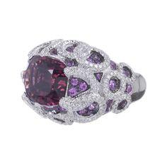SALAVETTI Pink Tourmaline Pink Sapphire Diamond RIng Gems Jewelry, High Jewelry, Jewelry Art, Jewelery, Fantasy Jewelry, Sapphire Diamond, Fashion Rings, Bracelets, Amethyst