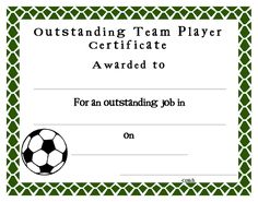 soccer certificate awards  Free Printable Soccer Award Certificates | Soccer Awards | Drawing ...
