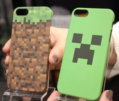 Show off your nerd pride with this Minecraft-themed phone case.