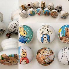 Peter Rabbit lade/deur knoppen set van 6 assortiment